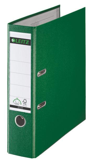 Папка-регистратор Esselte Leitz 10101255P A4 80мм пластик зеленый
