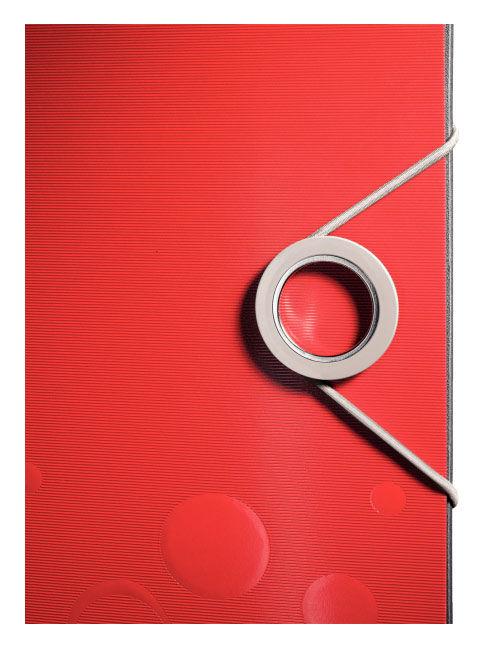 Папка-регистратор Leitz Active Bebop 10480025 A4 65мм красный 180 градусов