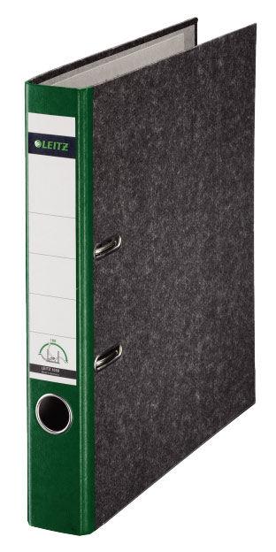 Папка-регистратор Esselte Leitz 10500255P A4 50мм картон зеленый