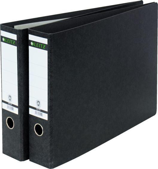 Папка-регистратор Esselte Leitz 10730000 A3 75мм картон черный мрамор