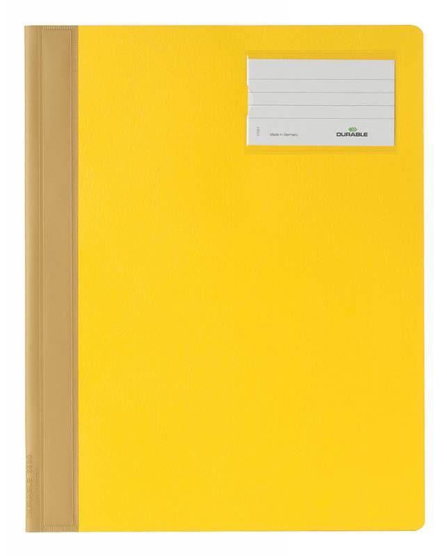 Папка-скоросшиватель Durable 2500-04 A4+ ПВХ желтый