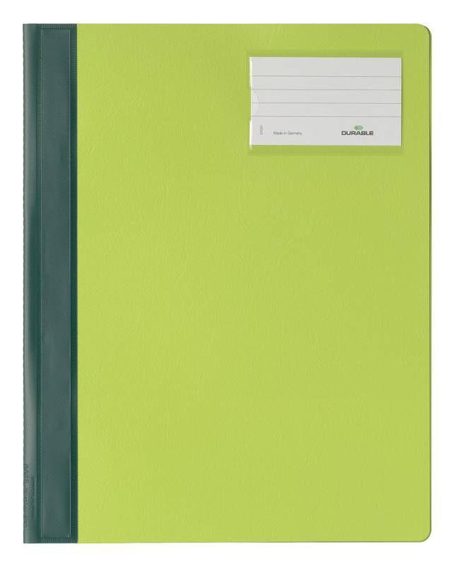 Папка-скоросшиватель Durable 2500-05 A4+ карм.на лиц.стор. ПВХ зеленый