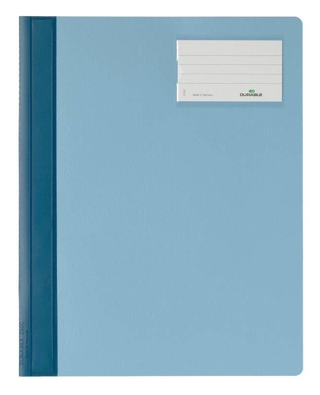 Папка-скоросшиватель Durable 2500-06 A4+ карм.на лиц.стор. ПВХ синий