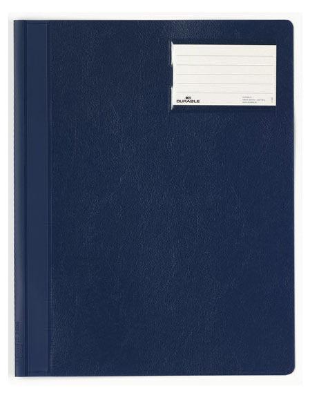 Папка-скоросшиватель Durable 2500-07 A4+ карм.на лиц.стор. ПВХ темно-синий