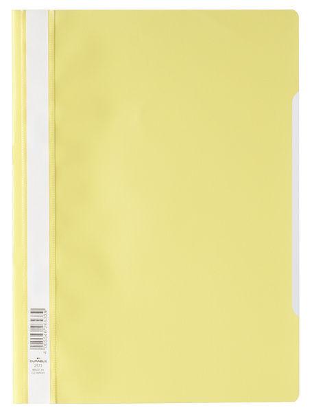Папка-скоросшиватель Durable 2573-04 A4 прозрач.верх.лист ПВХ желтый