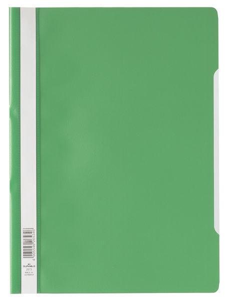Папка-скоросшиватель Durable 2573-05 A4 прозрач.верх.лист ПВХ зеленый