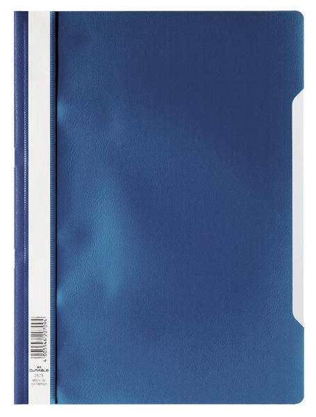 Папка-скоросшиватель Durable 2573-07 A4 прозрач.верх.лист ПВХ синий