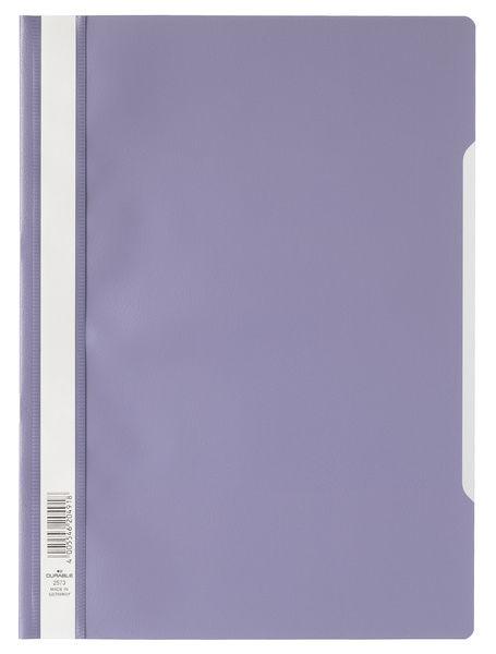 Папка-скоросшиватель Durable 2573-12 A4 прозрач.верх.лист ПВХ фиолетовый