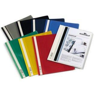 Папка-скоросшиватель Durable Duraplus 2579-10 прозрач.верх.лист карман серый