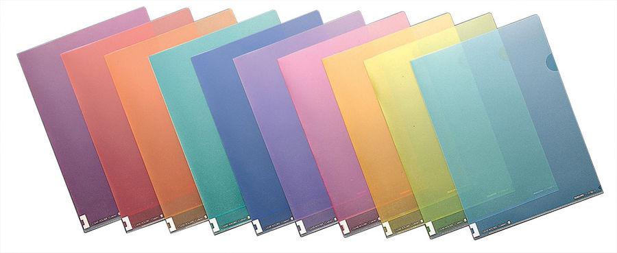 Папка-уголок Kokuyo FU-C750-7 A4 пластик 0.2мм оранжевый