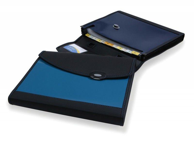 Папка-портфель Rapesco 0670 формат А4 24 отделения синий
