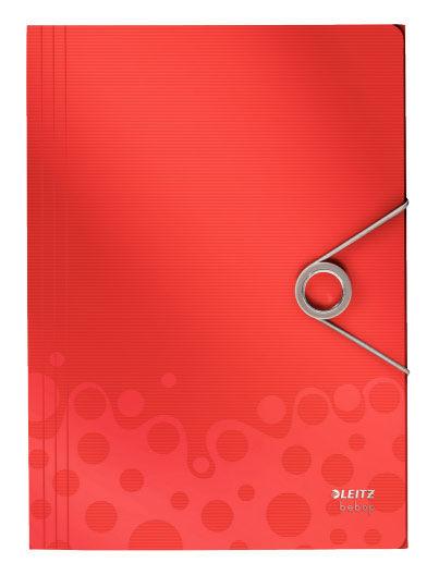 Папка на резинке Leitz Bebop 45630025 A4 пластик красный