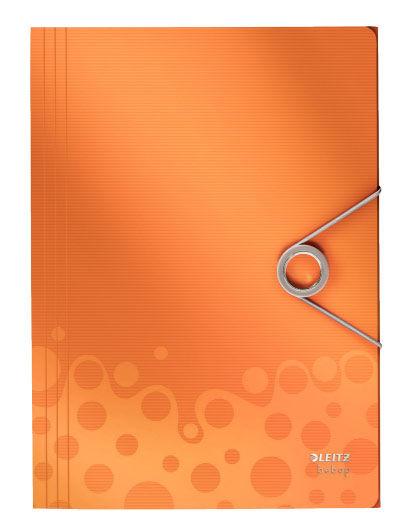 Папка Leitz Bebop на резинке c 3-мя клапанами оранжевый [45630045]