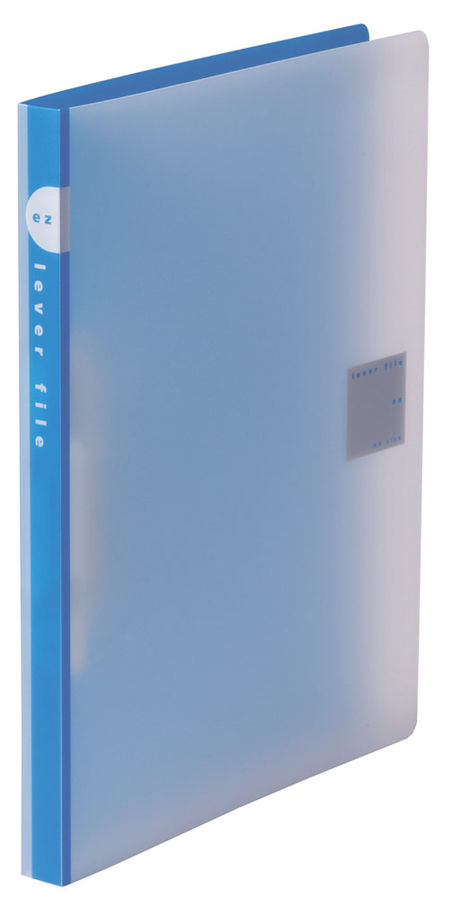 Папка с авт.зажим Kokuyo WE-FU320BL A4 пластик 0.75мм синий