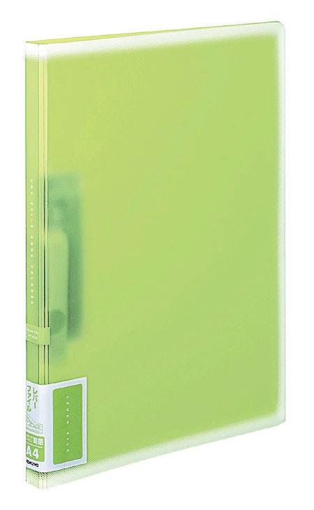 Папка с авт.зажим Kokuyo Coloree F-VFF107G A4 пластик 0.75мм светло-зеленый