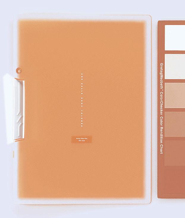 Папка с клипом Kokuyo Coloree F-VFH100YR A4 пластик 0.4мм оранжевый