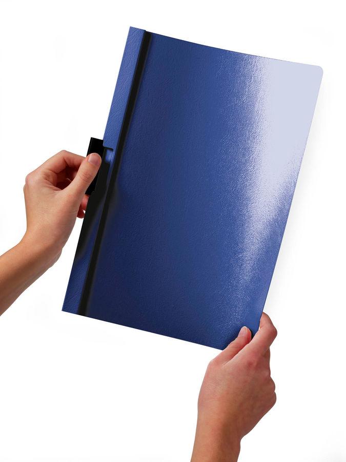Папка с фигурным клипом Durable Duraclip 220005 прозрач. верх.лист A4 1-30лист. зеленый