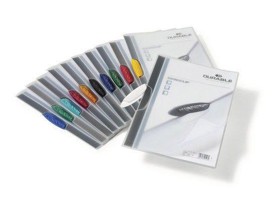Папка с фигурным клипом Durable Swingclip 226001 полупрозрач. верх.лист A4 1-30лист. черный