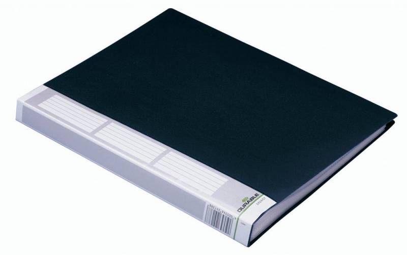 Папка с 40 прозр.вклад. Durable Duralook 242401 A4 пластик черный