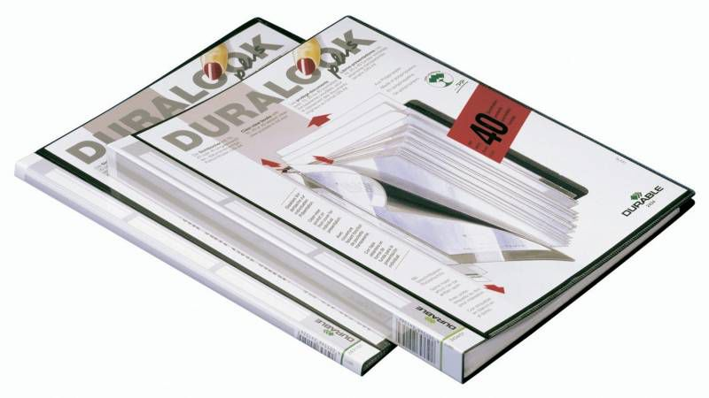 Папка с 40 прозр.вклад. Durable Duralook Plus 243401 карм.на лиц.стор.Папки с прозрачными вкладышами<br>количество вкладышей: 40шт; карман на лицевой стороне<br><br>Линейка: Duralook Plus