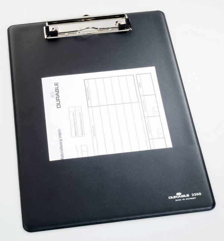 Папка-планшет Durable Clipboard 2350-01 A4 черный карм.для бумаги/крюч.для подвеш.