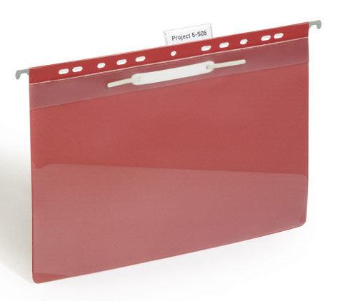 Папка-скоросшиватель Durable Clear View Suspension File 2560-10 A4 боков.перф. серый инфо-окно 60мм