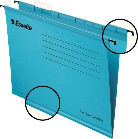 Папка подвесная Esselte Pendaflex Plus Foolscap 90334 синий (упак.:25шт) папка esselte на 4х кольцах