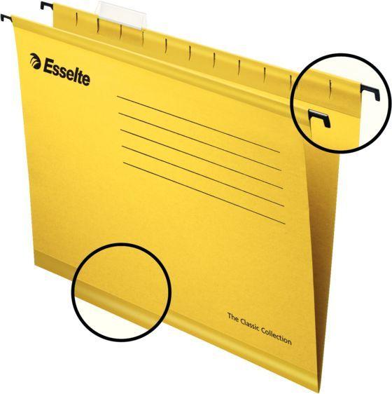 Папка подвесная Esselte Pendaflex Plus Foolscap 90335 желтый (упак.:25шт)