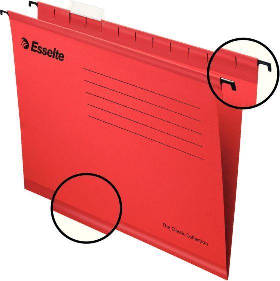 Папка подвесная Esselte Pendaflex Plus Foolscap 90336 красный (упак.:25шт)