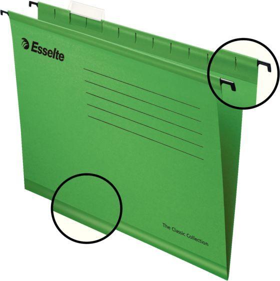 Папка подвесная Esselte Pendaflex Plus Foolscap 90337 зеленый 412x240x1мм (упак.:25шт)