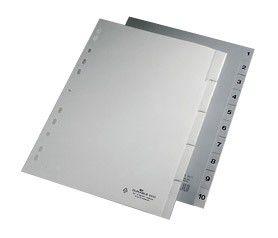 Разделитель индексный Durable 6440-10 A4 пластик 1-5 с вставными метками