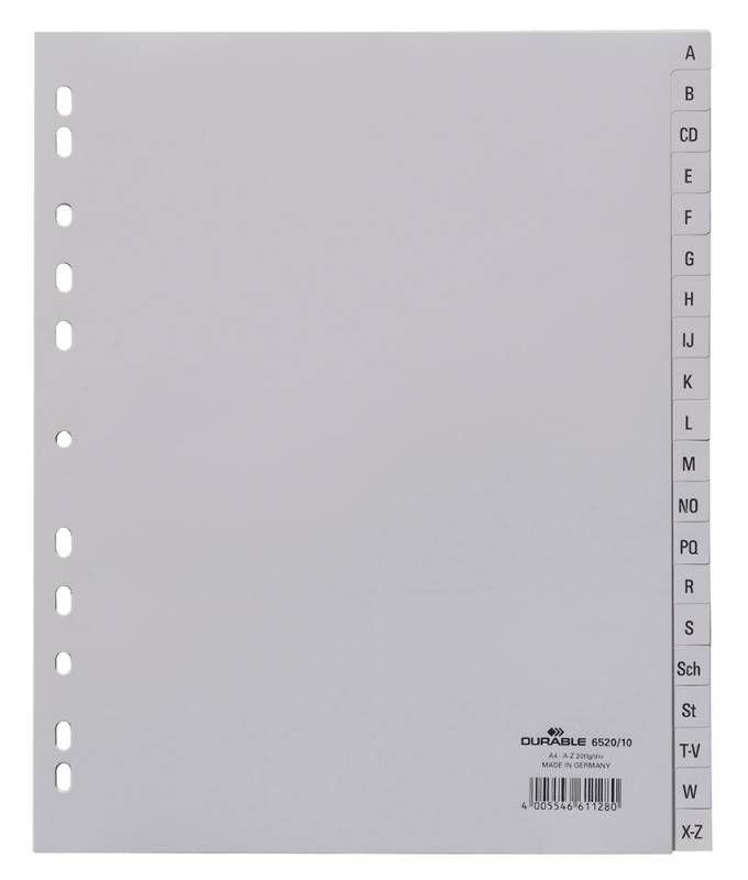 Разделитель индексный Durable 652010 A4 пластик A-Z
