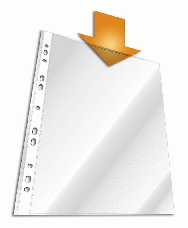 Папка-вкладыш Durable 2668-19 прозрачный глянцевые А4 вертикальный 48мкм (упак.:100шт)