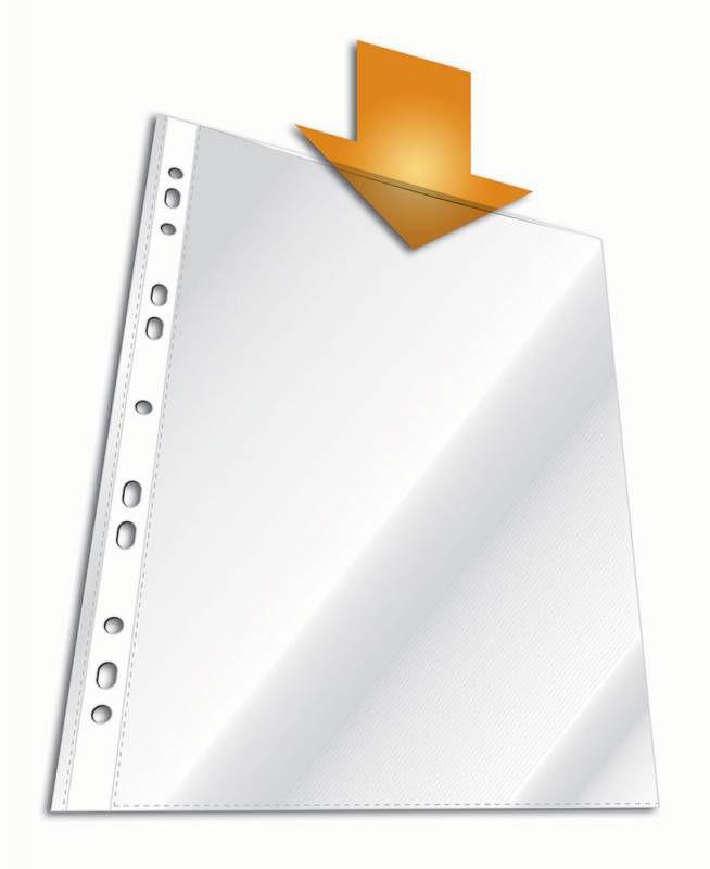 Папка-вкладыш Durable 2672-19 прозрачный глянцевые А4 вертикальный 48мкм (упак.:100шт)