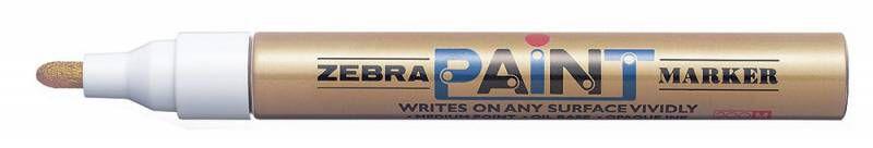 Маркер перманентный Zebra PAINT MOP-200MZ-GO круглый пиш. наконечник (толщина линии 1.5мм) золотой