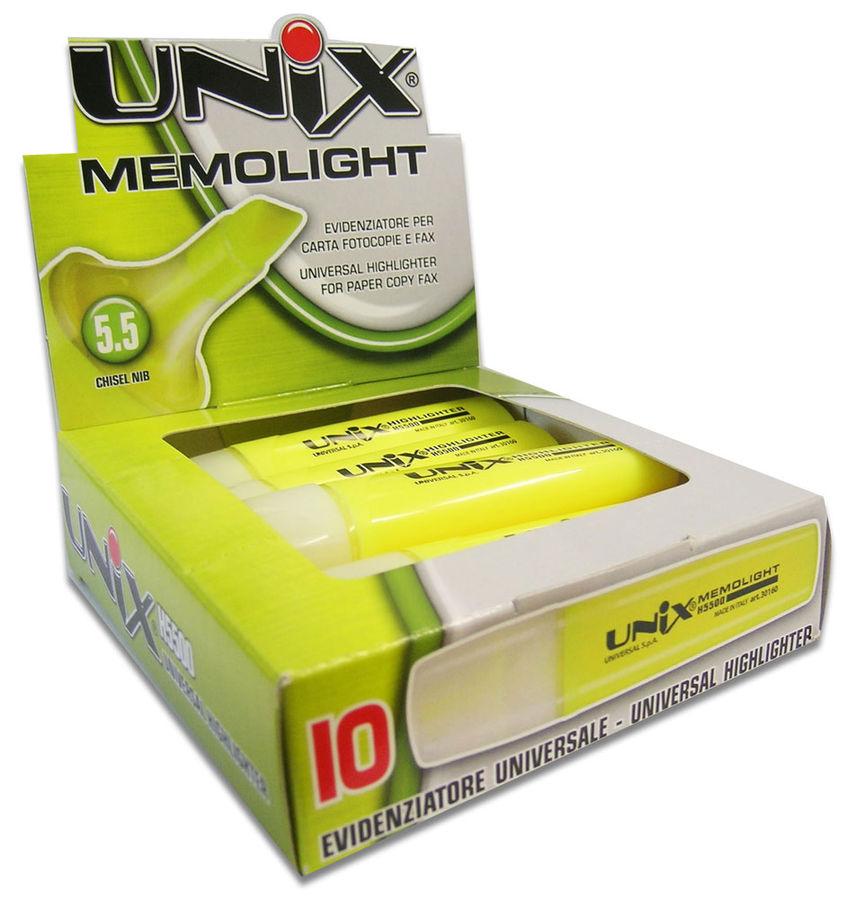 Маркер текстовой Universal UNIX MEMOLIGHT 41683/35 скошенный пиш. наконечник 5.5мм оранжевый