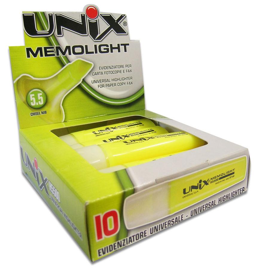 Маркер текстовой Universal UNIX MEMOLIGHT 41683/39 скошенный пиш. наконечник 5.5мм голубой