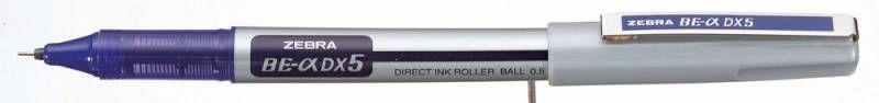 Ручка-роллер Zebra ZEB-ROLLER BE& DX5 (EX-JB4-BL) 0.5мм игловидный пиш. наконечник синий