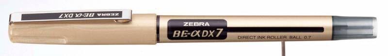 Ручка-роллер Zebra ZEB-ROLLER BE& DX7 (EX-JB5-BK) 0.7мм игловидный пиш. наконечник черный