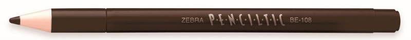 Ручка-роллер Zebra PENCILTIC (BE-108 BK) 0.5мм игловидный пиш. наконечник черный