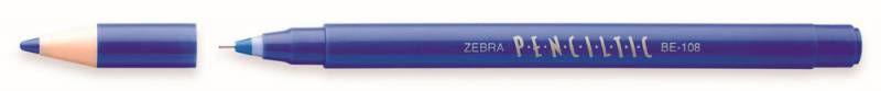 Ручка-роллер Zebra PENCILTIC (BE-108 BL) 0.5мм игловидный пиш. наконечник синий