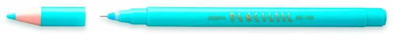 Ручка-роллер Zebra PENCILTIC (BE-108 LB) 0.5мм игловидный пиш. наконечник голубой