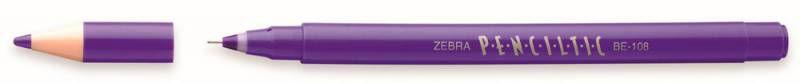 Ручка-роллер Zebra PENCILTIC (BE-108 PU) 0.5мм игловидный пиш. наконечник фиолетовый