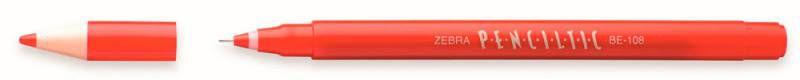 Ручка-роллер Zebra PENCILTIC (BE-108 R) 0.5мм игловидный пиш. наконечник красный