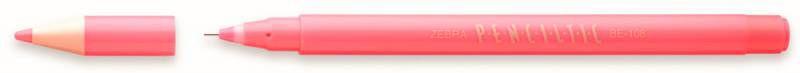 Ручка-роллер Zebra PENCILTIC (BE-108 P) 0.5мм игловидный пиш. наконечник розовый