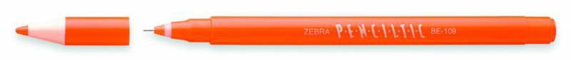 Ручка-роллер Zebra PENCILTIC (BE-108 OR) 0.5мм игловидный пиш. наконечник оранжевый