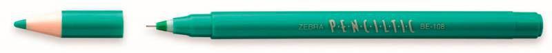 Ручка-роллер Zebra PENCILTIC (BE-108 G) 0.5мм игловидный пиш. наконечник зеленый