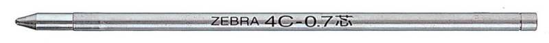 Стержень для шариковых ручек Zebra 4C (BR-8A-4C-BL) 0.7мм синий