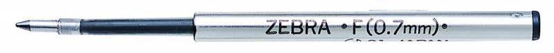 Стержень для шариковых ручек Zebra F (BR-1B-F-BK) 0.7мм черный