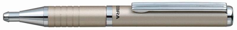 Ручка шариковая Zebra SLIDE (BP115-SV) авт. телескопич.корпус шампань синие чернила коробка подарочн
